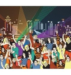 Lgbt gay homosexual night disco party vector image