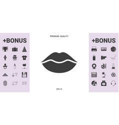 Lips symbol icon - graphic elements for your vector