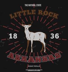 Little Rock Arkansas t-shirt graphic vector
