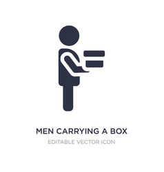 Men carrying a box icon on white background vector