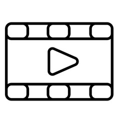 movies videos icon vector image