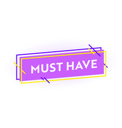 must have banner shopping discount or sale vector image