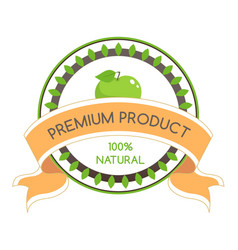 natural organic ingredients vector image
