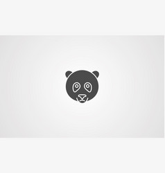 panda icno sign symbol vector image