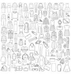 pattern set of clothes vector image