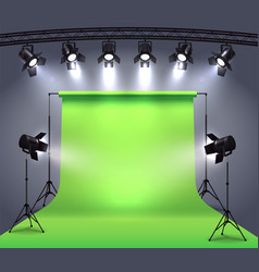 photo studio spotlights composition vector image