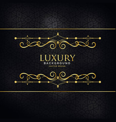 Premium luxury invitation background with golden vector