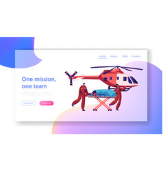 Professional medicine rescue landing page medic vector