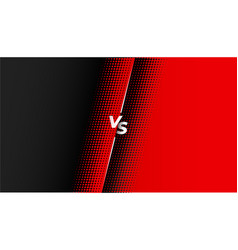 Red and black halftone versus vs banner design vector