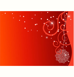 Red ornate x-mas backdrop vector