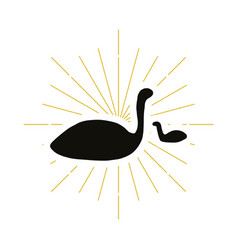 retro flamingo silhouette vector image