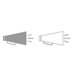 retro loudspeaker it is black icon vector image