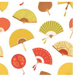 Seamless asian pattern with japanese folding paper vector