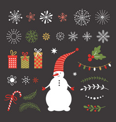 season greetingsmerry christmas vector image