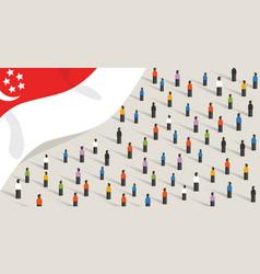 Singapore independence anniversary celebration vector