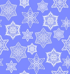 Snowflakes with embroidery vector image