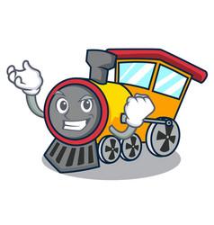 Successful train character cartoon style vector