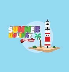 Summer holiday retro cartoon theme vector image