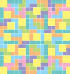 Tetris background pastel colors vector