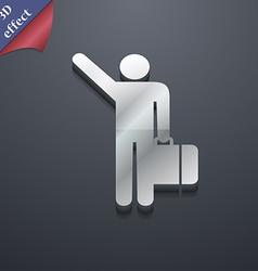tourist icon symbol 3D style Trendy modern design vector image