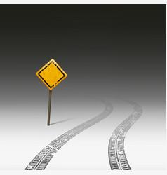 warning road sign vector image