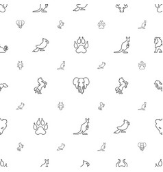 wild icons pattern seamless white background vector image