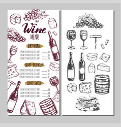 Wine restaurant menu 6 vector