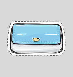 women clutch bag isolated patch ladies handbag vector image