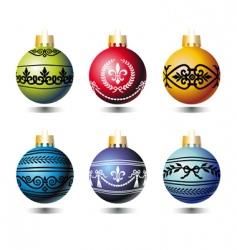 xmas colorful balls vector image