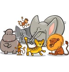 african safari wild animals cartoon vector image vector image