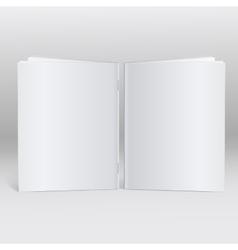 Blank Brochure template mock-up vector image vector image