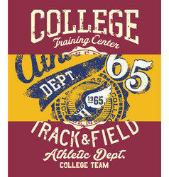 college track and field athletic vector image vector image