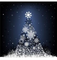 snow fir-tree vector image