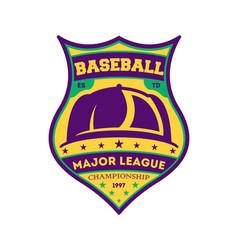 baseball major league vintage isolated label vector image