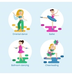 Dance styles for girls vector image