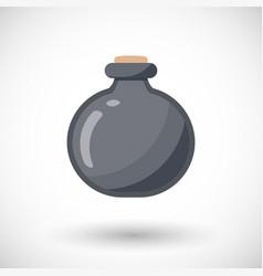 poison bottle flat icon vector image