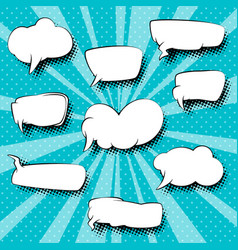 set of retro speech bubbles vector image vector image