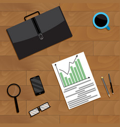 annual financial forecast of growth and vector image
