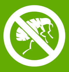 etching insect icon green vector image vector image