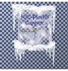 Ice plate banner vector image vector image