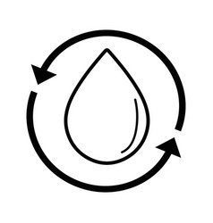 line water drop with arrows around vector image
