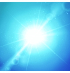 abstract background with sun and lens vector image vector image