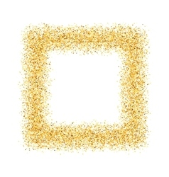 Abstract gold sand dust glitter frame square vector
