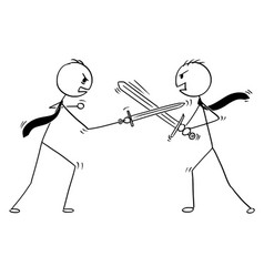 conceptual cartoon of two businessmen arguing and vector image vector image
