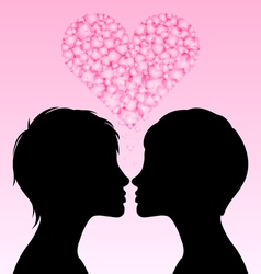 Lesbian love vector image vector image