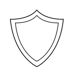 shield protection system technology line vector image