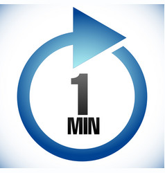 1 minute turnaround time tat icon interval for vector