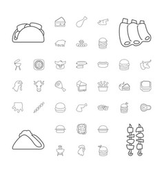 37 meat icons vector