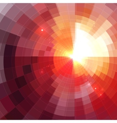 Abstract red shining circle tunnel background vector
