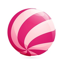 Abstract sphere candy logo vector image vector image